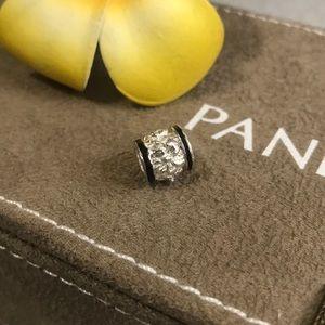 Jewelry - Sterling silver plumeria barrel charm